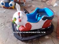 Đồ chơi xe điện đụng con thỏ thông minh 13